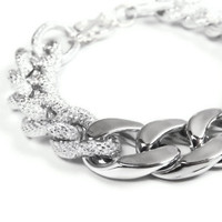 Chunky Silver Link Chain Bracelet - Great Arm Candy