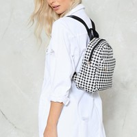 WANT Frequent Flyer Gingham Backpack