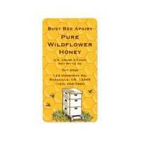 Beehive and Honeycomb Personalized Apiary Style 2 Address Label