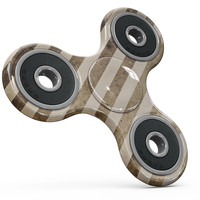 Aged Brown and Grunge Vertical Stripes Full-Body Fidget Spinner Skin-Kit