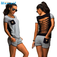 Summer Casual  Suit Sportwear T Shirt+ Shorts Two-piece Outfit Workout Clothes Amazing May 12