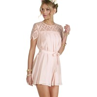 Promo-pink Pretty And Pleated Dress