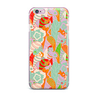 "Akwaflorell ""Fishes Here, Fishes There 2"" Multicolor iPhone Case"