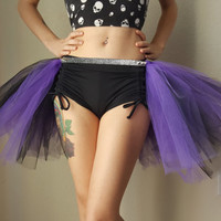 purple and black open front Gothic tutu