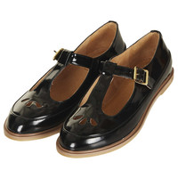 MARTIE Patent T Bar Geek Shoes - Topshop