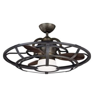 Savoy House French Country Alsace Fan d'Lier 26-Inch Ceiling Fan with Remote Control