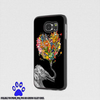 Floral Elephant art for iphone 4/4s/5/5s/5c/6/6+, Samsung S3/S4/S5/S6, iPad 2/3/4/Air/Mini, iPod 4/5, Samsung Note 3/4 Case * NP*