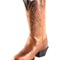 Ariat Women's Heritage Western R Toe Boot - Russet Rebel