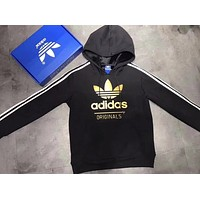 "Women Couple ""Adidas"" Print Hoodie Sweatshirt Tops Sweater Pullover Black"
