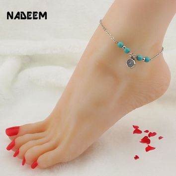 New Accessories Sea Turtle,Cross,Fatima Hamsa,Tree Pendant Anklet Bracelet Women Fashion Beach Foot Chain Ankle Leg Jewelry