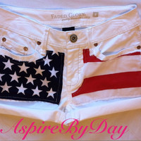 American flag shorts without studs
