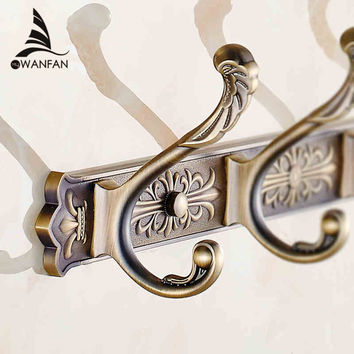 Golden Dragon Hook Antique Coat Hooks Bathroom Walls European Metal Pendant Hanging Clothes Hanger Hook Hook Row Ha-38W