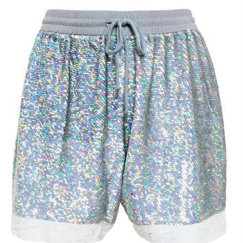 Lace Trimmed Sequin Shorts - ASHISH