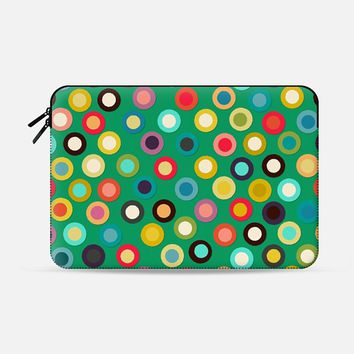 "green pop spot macbook Macbook Pro 13"" sleeve by Sharon Turner 