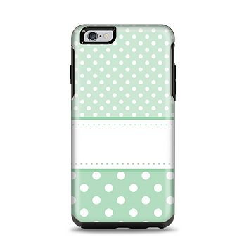 The Vintage Light Green Polka Dot With White Strip copy Apple iPhone 6 Plus Otterbox Symmetry Case Skin Set