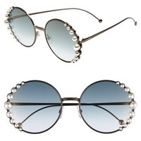 Fendi 58mm Embellished Round Sunglasses | Nordstrom