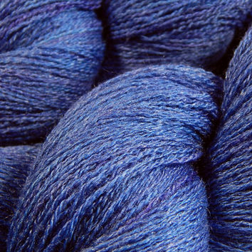 Hand Dyed Yarn - Lace Weight Silk/Merino Wool Yarn - Cobalt - Knitting Yarn, Lace Yarn, Lace Weight Yarn, Wool Silk Yarn, Blue