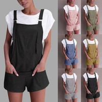 2018 summer womens romper Loose Dungarees rompers Loose Rompers Jumpsuit Shorts Pants Trousers mamelucos womens jumpsuit  x3065