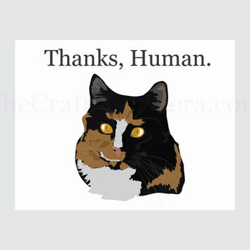 Funny Thank You Printable Cat Card