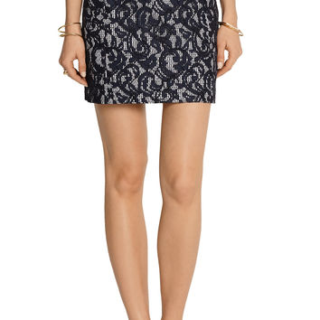 Carven Lace and gingham cotton mini skirt – 56% at THE OUTNET.COM