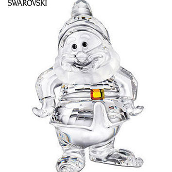 Swarovski Crystal Disney Figurine HAPPY Dwarf  #1003689
