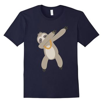 Lazy Dabbing Sloth With Gold Chain- Funny Sloth T-Shirt