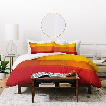 Madart Inc. Orange Sorbet Duvet Cover