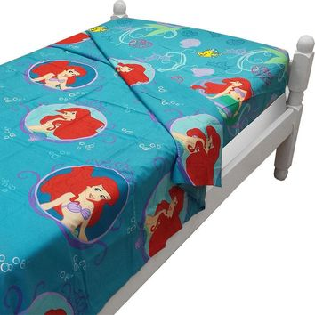 Little Mermaid Twin Bed Size Sheet Sets Disney Princess of the Waves Bedding Accessories