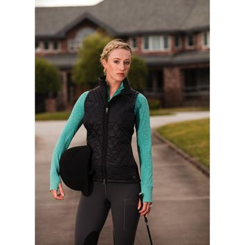 Noble Outfitters Ladies Classic Quilted Vest - Black