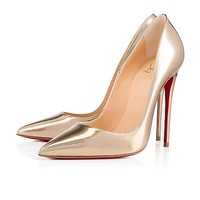 So Kate 120 Light Gold Specchio/Laminato - Women Shoes - Christian Louboutin