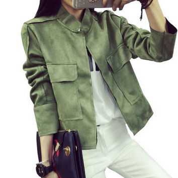New Military Style Women Jacket
