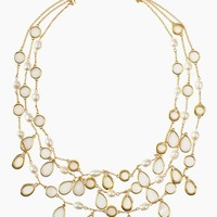 pearl point triple necklace