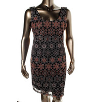 Bar III Womens Lace Sleeveless Wear to Work Dress