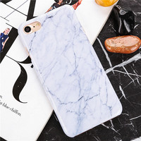White Marble Look with Veins Phone Case For iPhone 7 7Plus 6 6s Plus 5 5s SE