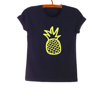 Pineapple Shirt Tumblr T Shirt Mens Womens TShirts Trendy Tops Teen Girl College Unisex Fashion Instagram Neon Shirt T-Shirts Graphic Tee