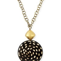 NEST Jewelry Spotted Horn Disk Pendant Necklace