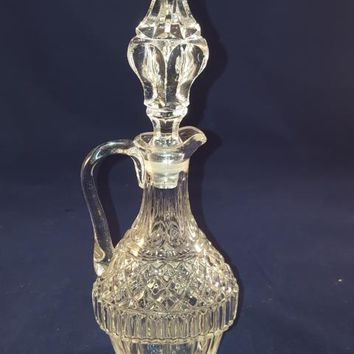 Lead Crystal Over 24% PbO Cruet With Lid