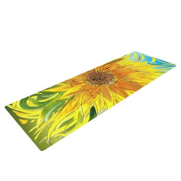 "Catherine Holcombe ""Syaured"" Yellow Green Yoga Mat"