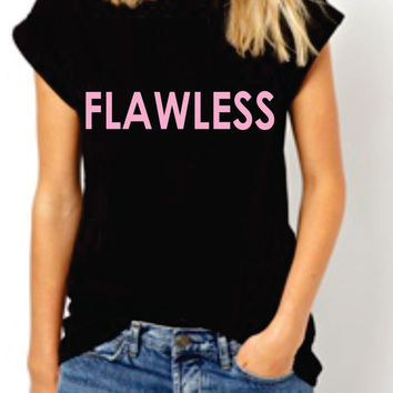 Flawless Beyonce Team women Tshirt. I woke up like dis this Tee. bow down T-shirt . Beyonce Lyrics inspired. Surfboard. Drunk in Love.