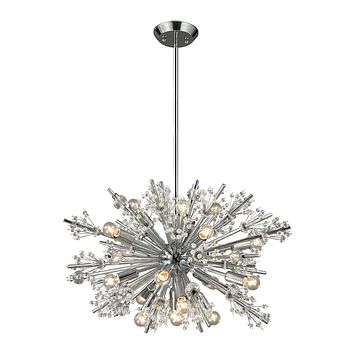 Starburst Collection 19 light chandelier in Polished Chrome