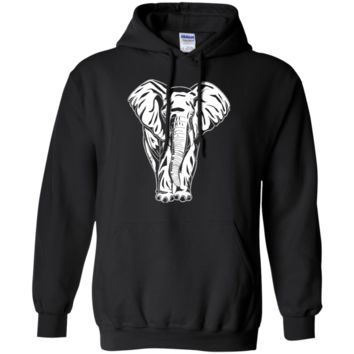 Elephant Hoodie - White Elephant Pullover Hooded Sweatshirt