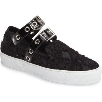 Robert Clergerie x Self-Portrait Texas Buckle Sneaker (Women) | Nordstrom