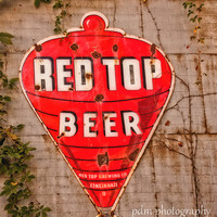 Red Top Beer Sign - Advertisement - Nostalgia - Vintage Photography