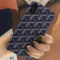 Goyard tide brand iphone7plus protective cover 6s couple hard shell #5