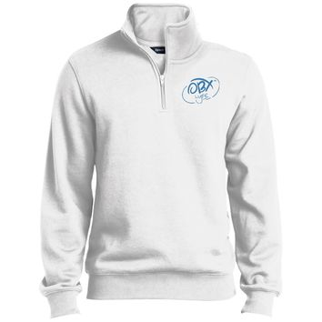Sky Blue OBX Lyfe Tall 1/4 Zip Sweatshirt in 10 Colors