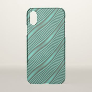 Teal Waves iPhone X Case