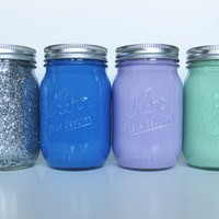Painted Mason Jar Set