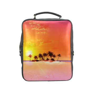 Wonderful Sunset In Soft Colors Back Pack Square Backpack