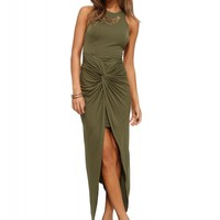 Olive You High Low Maxi Dress