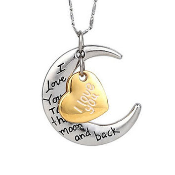 I Love You To The Moon And Back Necklace For Mates